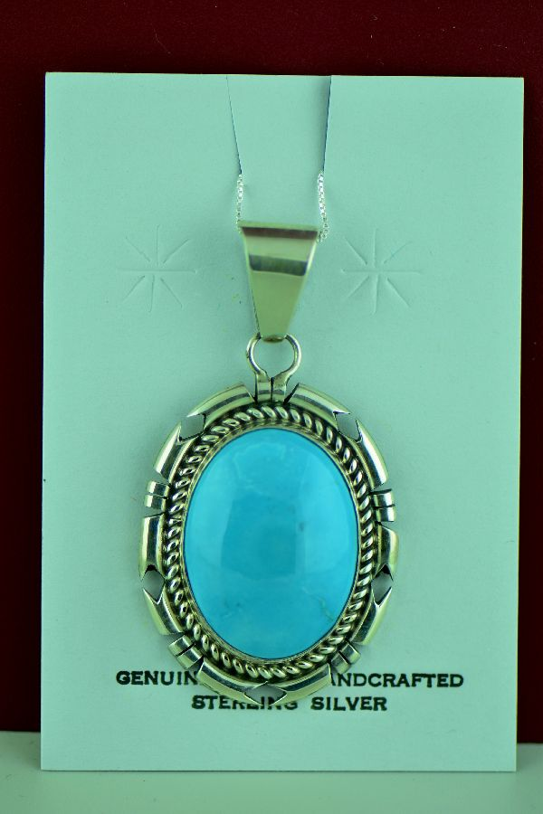 D Livingston Kingman Turquoise Pendant