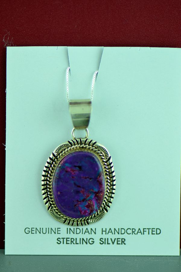 Native American Mohave Purple Turquoise Pendant