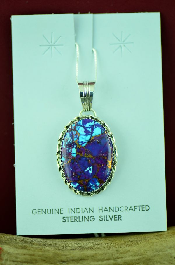 Mohave Purple Turquoise Sterling Silver Pendants