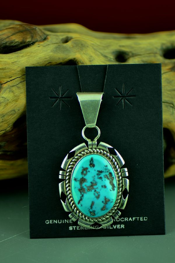 D Livingston Sleeping Beauty Turquoise Pendant