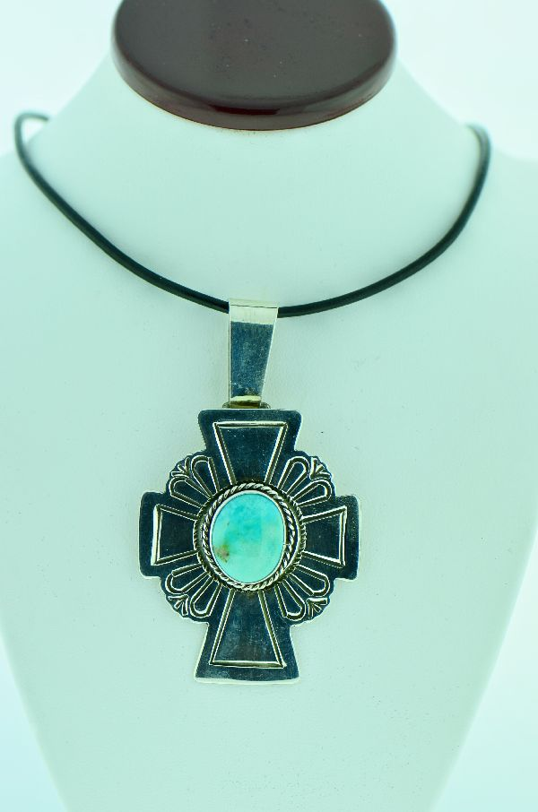 Native American Royston Turquoise Cross