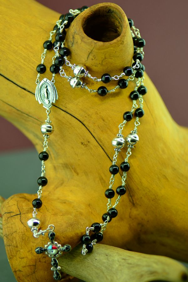 Native American Black Onyx Rosary
