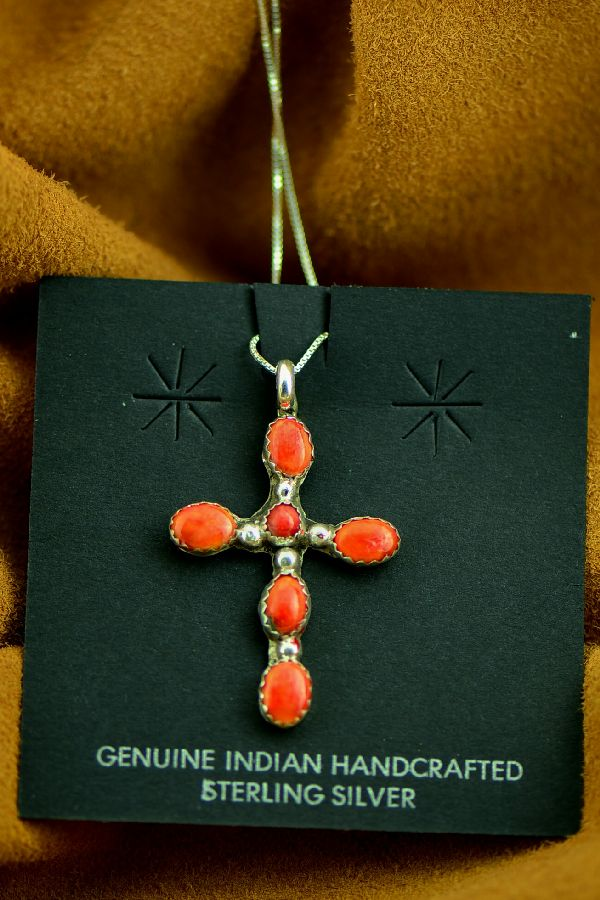 Lucy Cayatineto Sterling Silver Spiny Oyster Cross