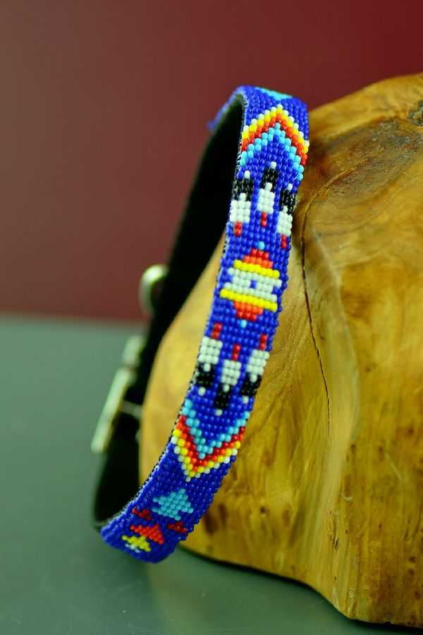 Caroline Joe Navajo Beaded Dog Collar