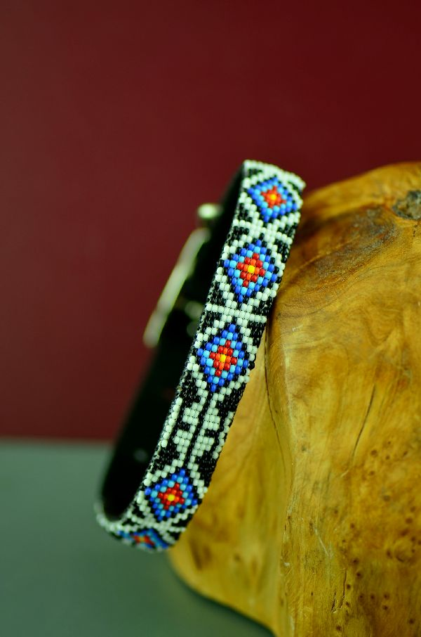 12 Inch Native American Beaded Dog Collar