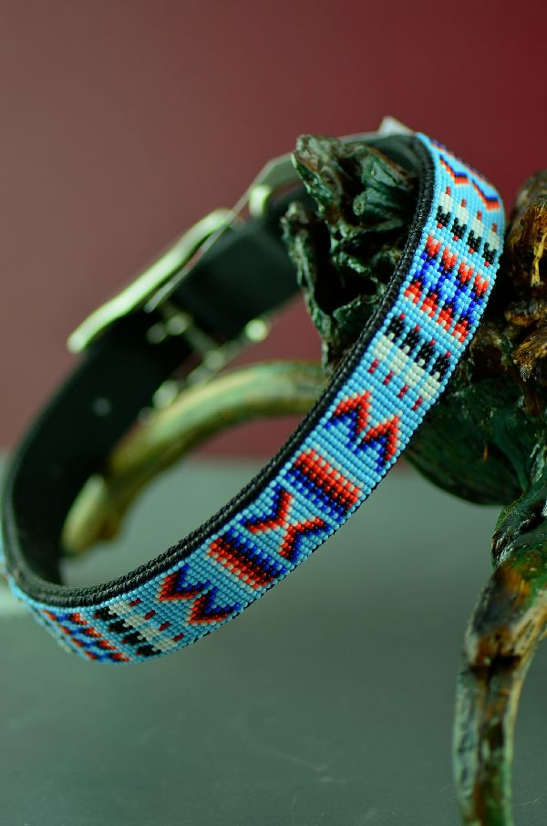Authentic Navajo Beaded Dog Collar