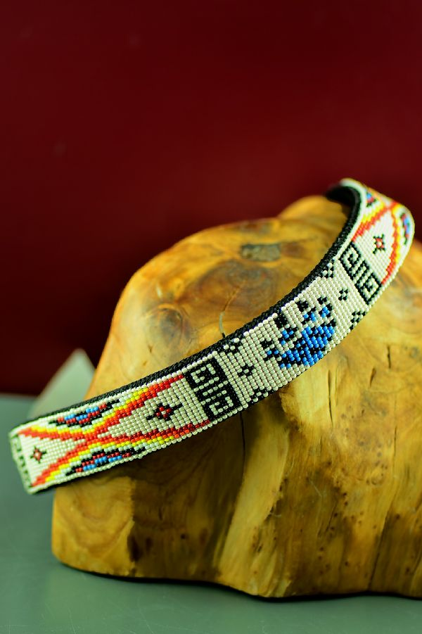 Navajo Traditional Beaded Dog Collar