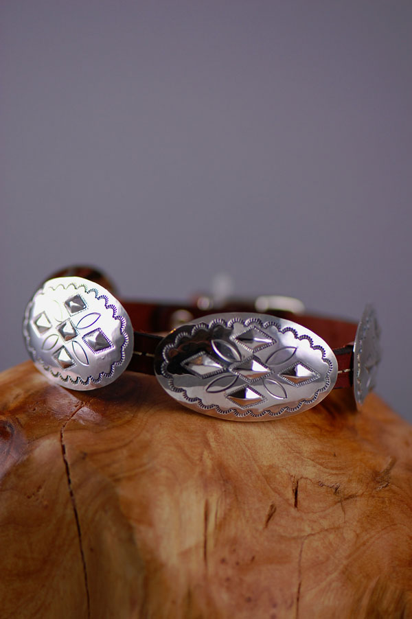 Navajo Sterling Silver Dog Collars