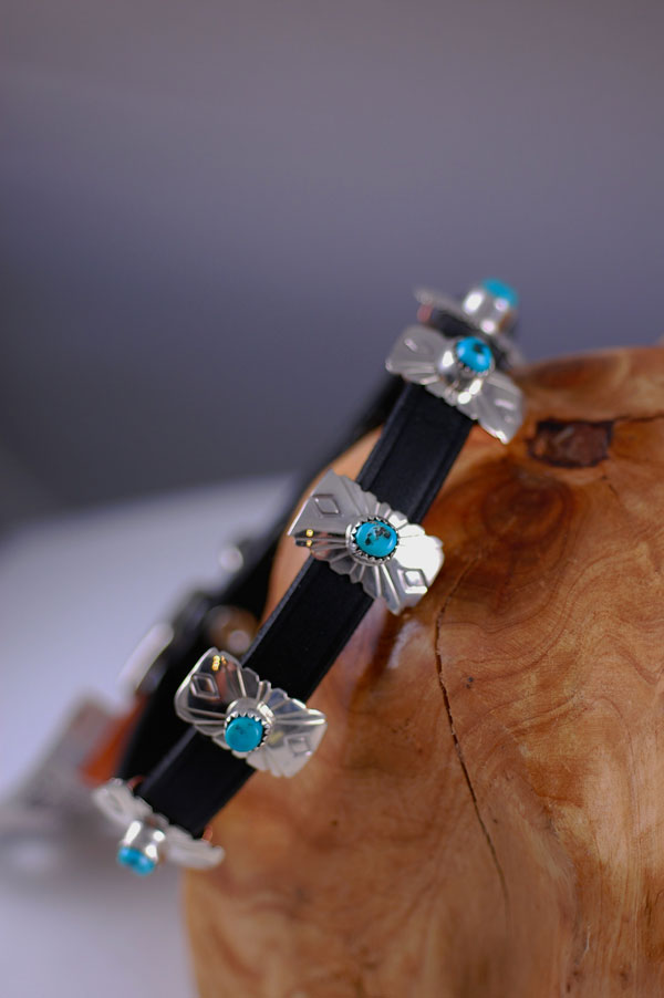 Blue Gem Turquoise Dog Collar