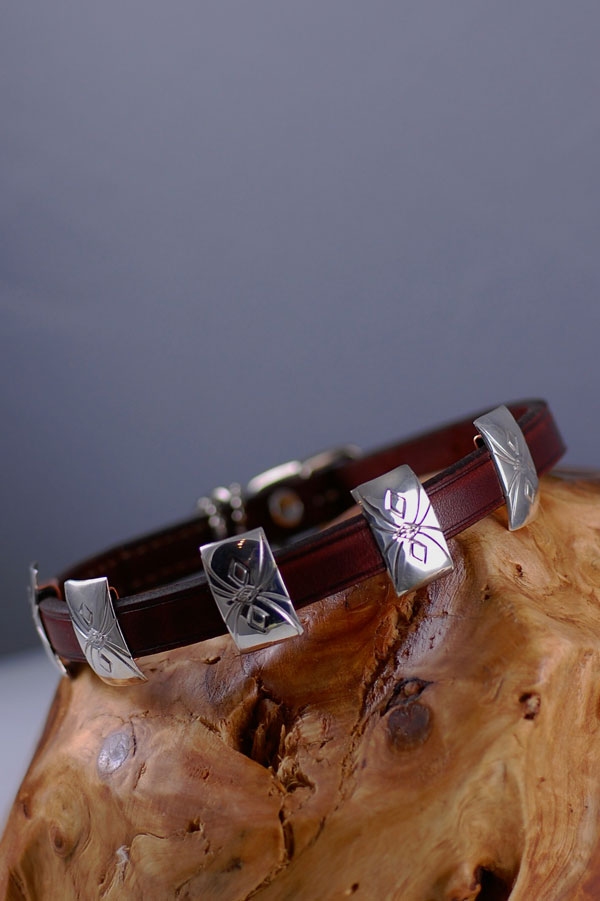 Native American Sterling Silver Dog Collars