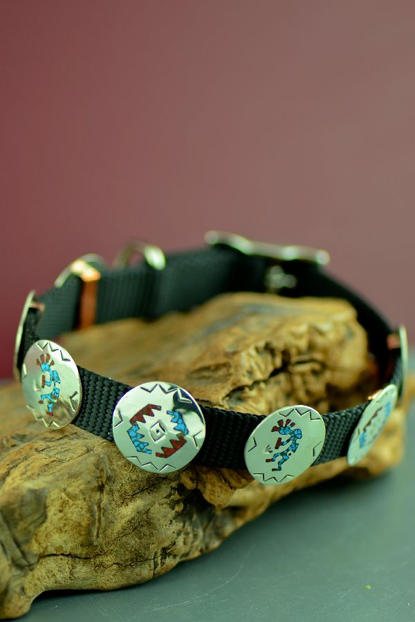 Native American Turquoise and Coral Dog Collar