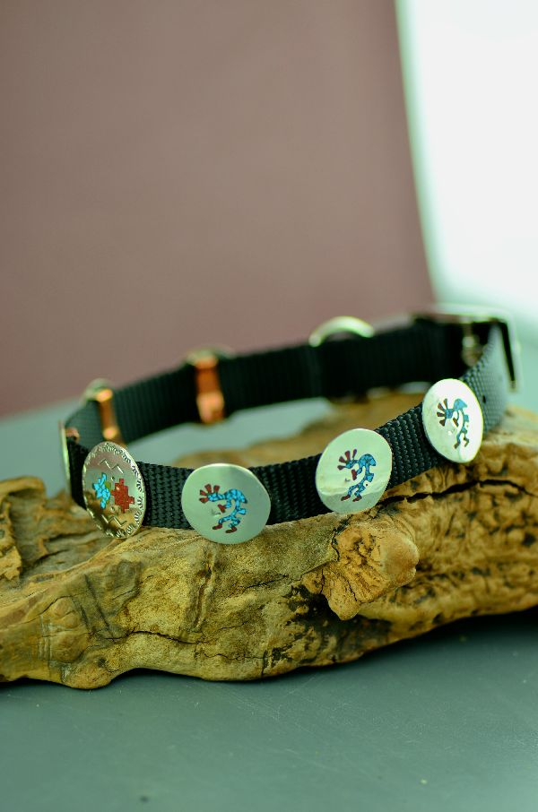 Kee Begay Kokopelli Dog Collar