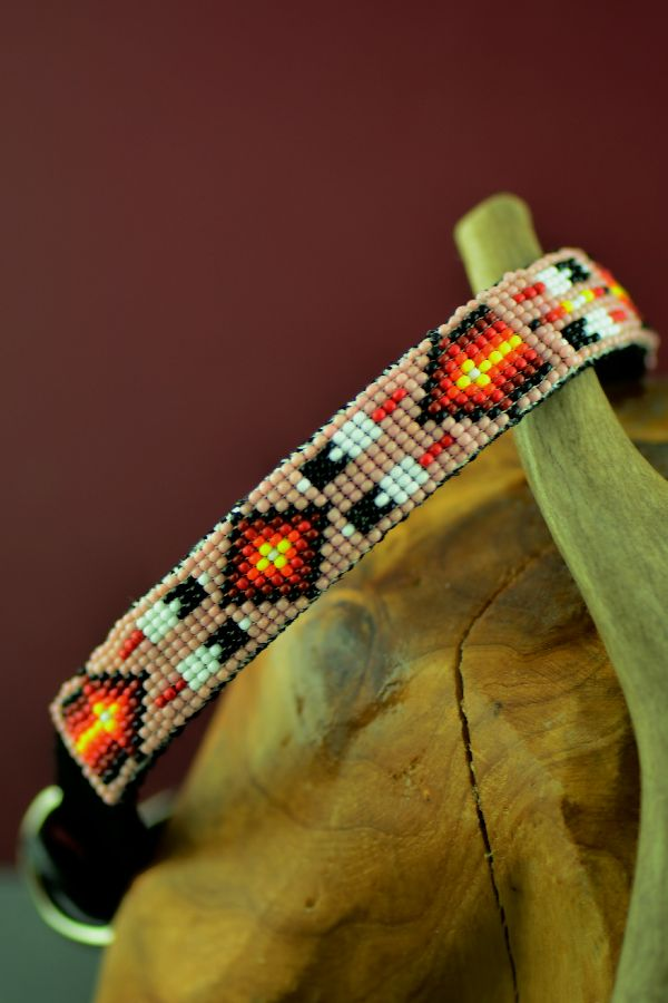 American Indian Beaded Dog Collar