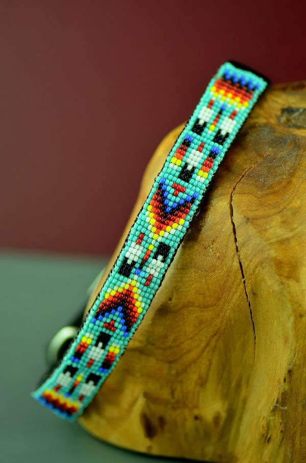 Native American Beaded Dog Collar