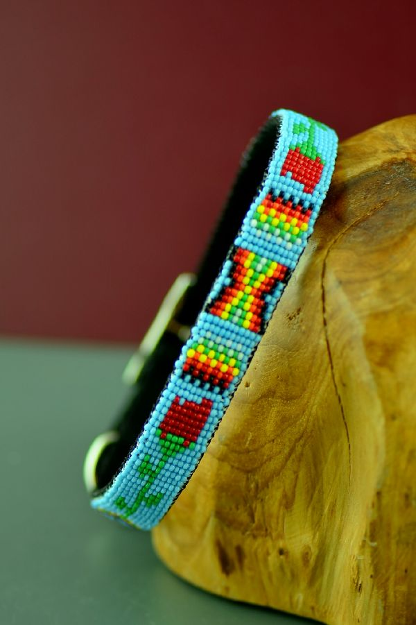 Amercan Indian Beaded Dog Collar