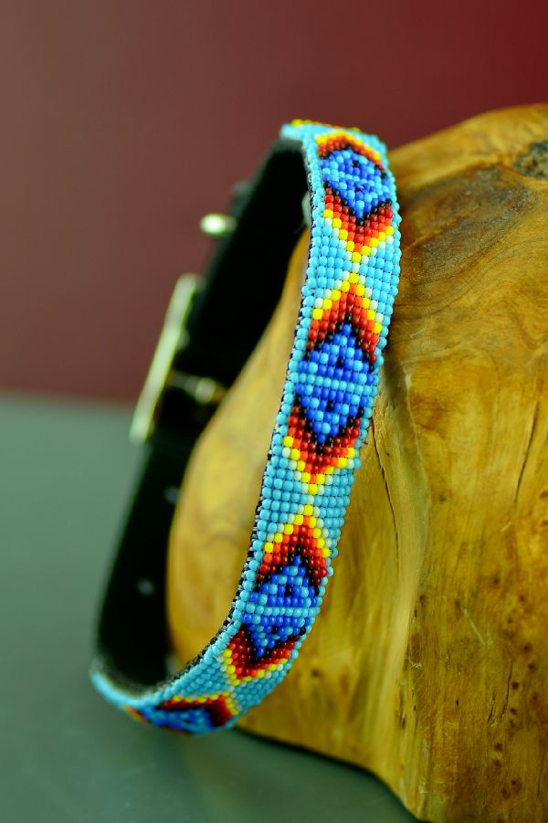 Beaded American Indian Dog Collar