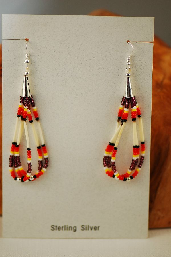 Navajo Quill Loop Earrings