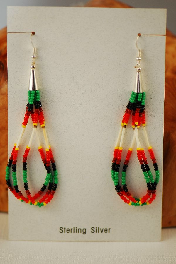 Earrings Navajo Beaded