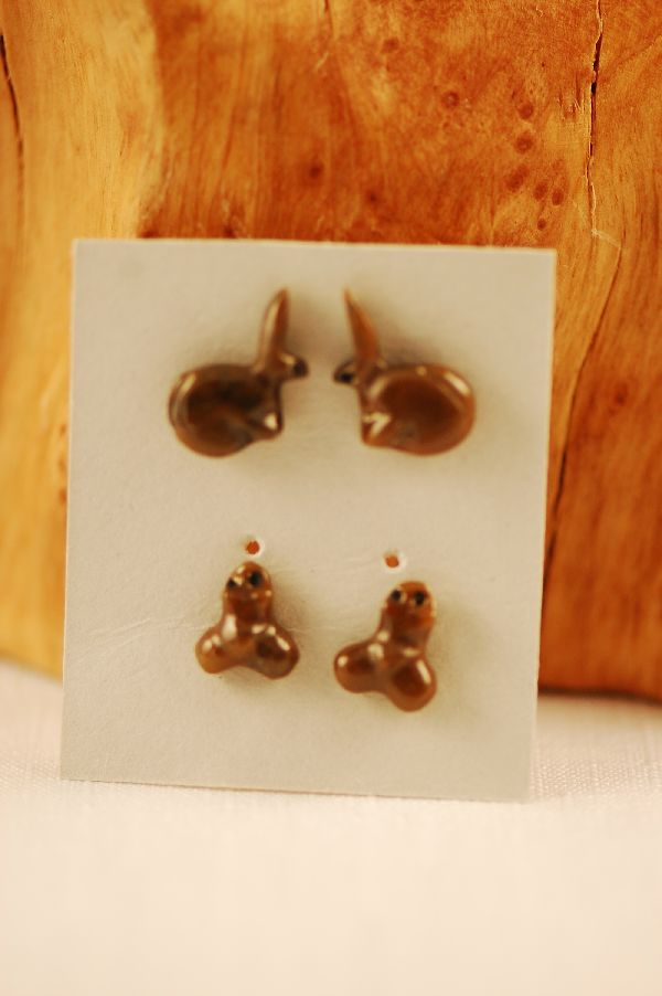 Navajo Rabbit Fetish Earrings