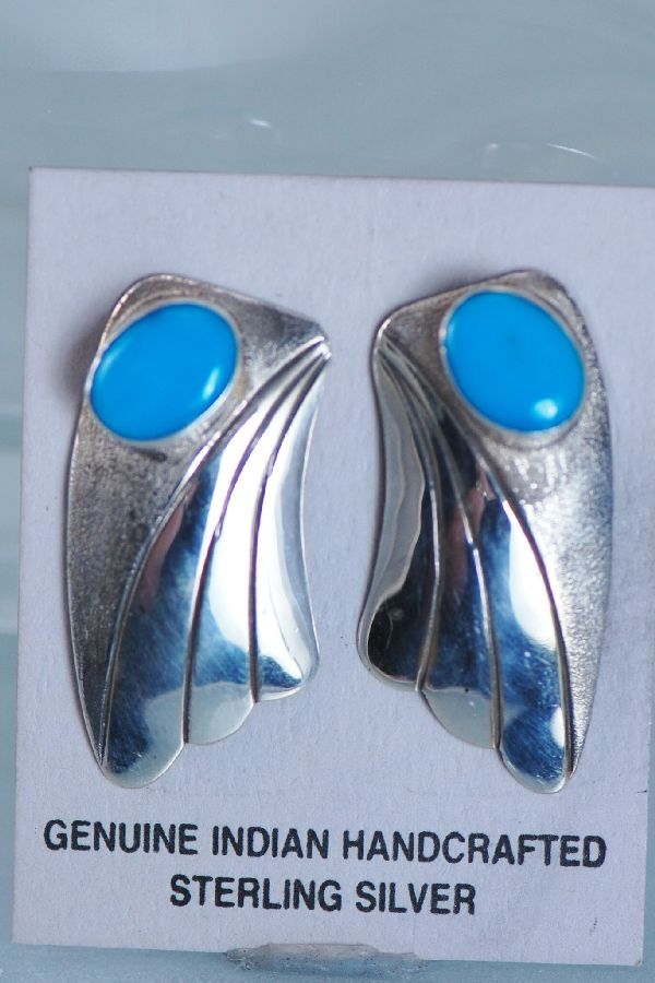 Navajo Contemporary Turquoise Earrings