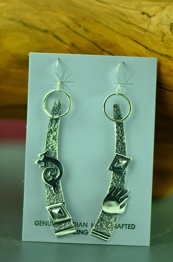 Navajo Sterling Silver Earrings Jack Tom