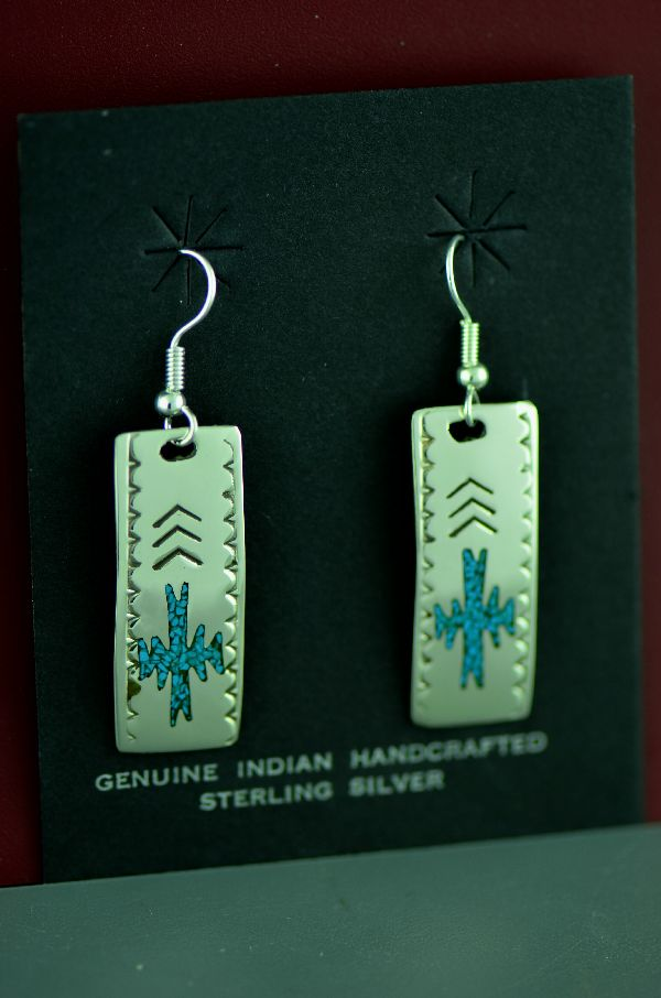 Kee Begay Turquoise Earrings | Kee Begay Jewelry | Navajo Turquoise Earrings