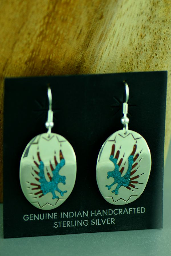 Authentic Native American Eagle Earrings
