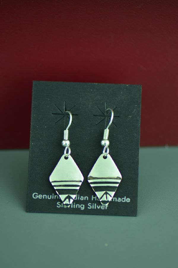 Navajo Tommy Singer Silver Earrings