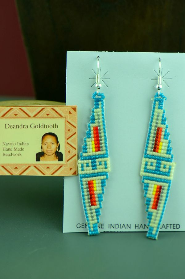 Deandra Goldtooth Beaded Navajo Earrings