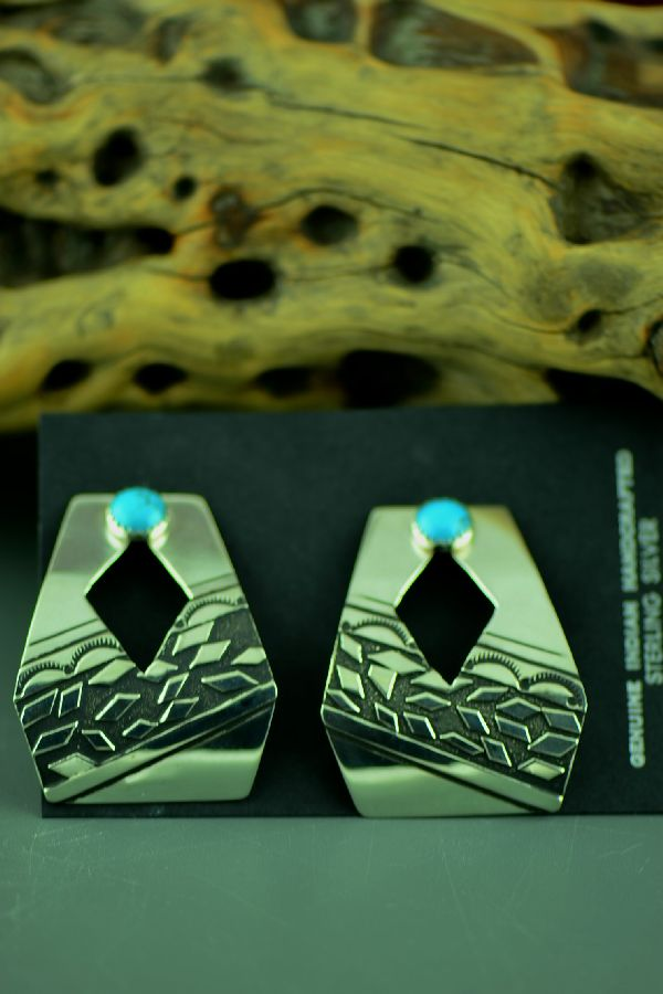 Rosita Singer Contemporary Kingman Turquoise Earrings