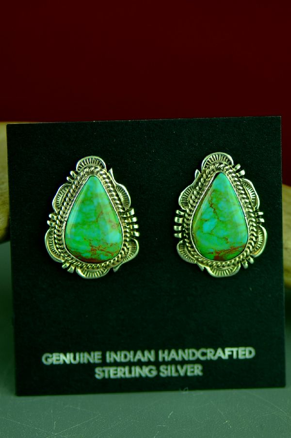 Native American Royston Turquoise Earrings