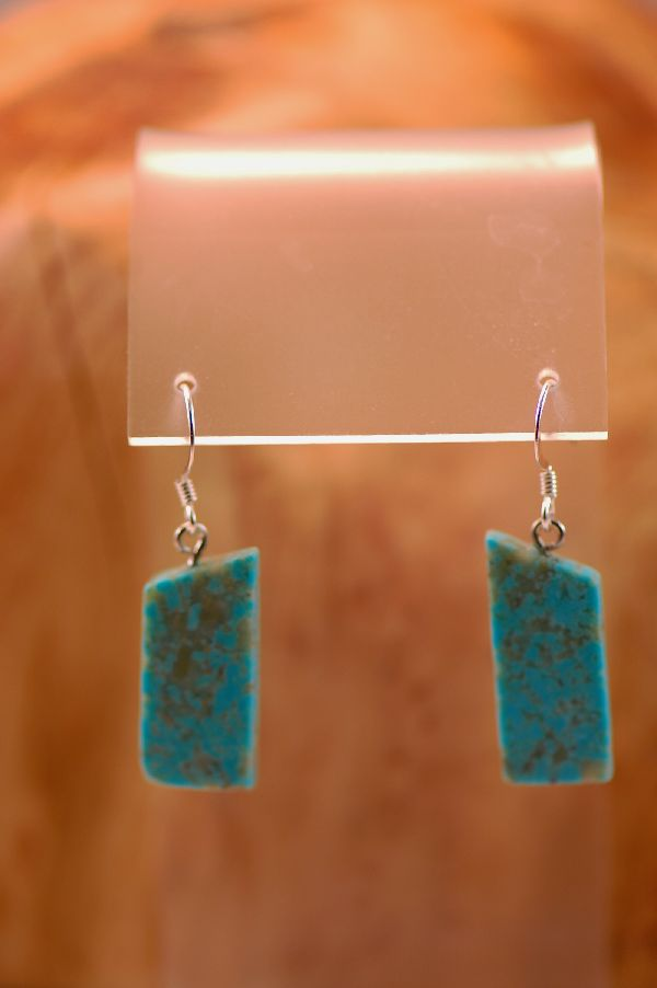 DuWayne Turpen Kingman Turquoise Earrings