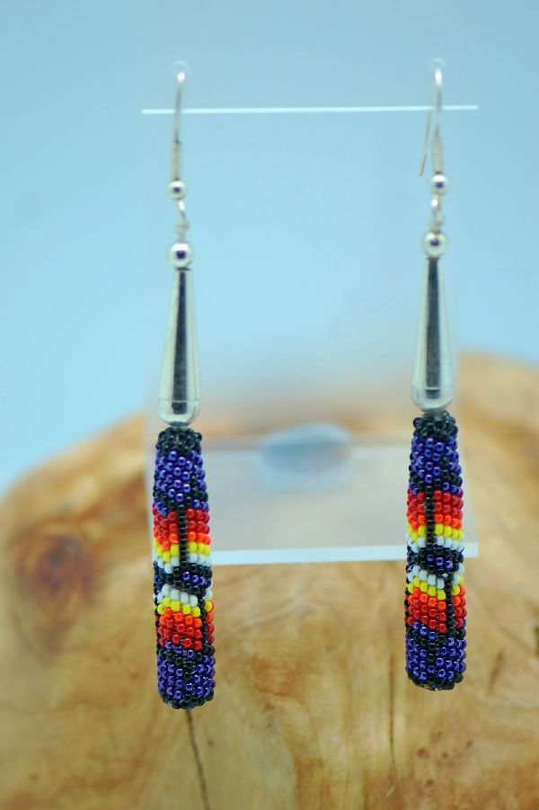 Beaded Navajo Long Earrings