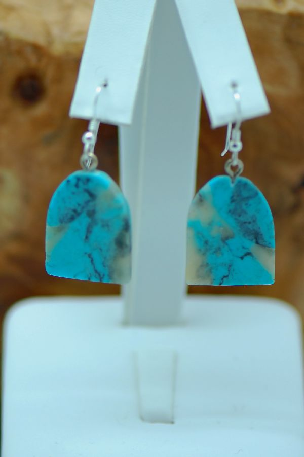 Navajo Earrings Turquoise Kingman