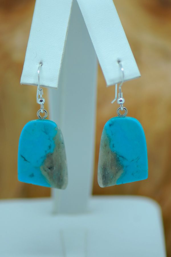 Navajo Turquoise Kingman Jewelry Earrings
