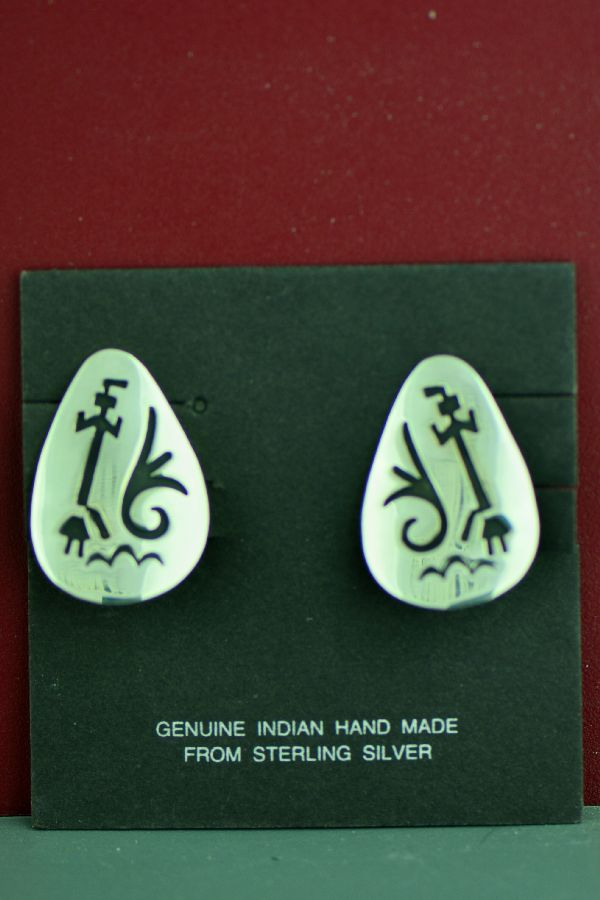 Tommy Singer Yei Be Che Kachina Clipon Earrings