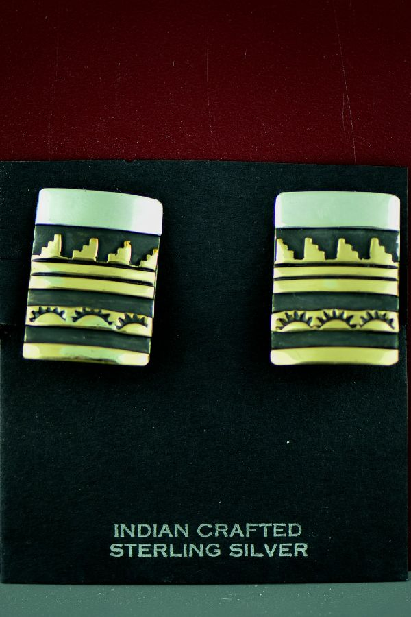 Tommy Singer Clip On Godl and Silver Earrings