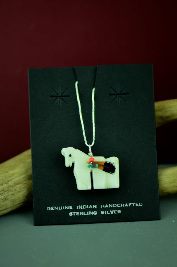 Navajo Horse Fetish Pendants