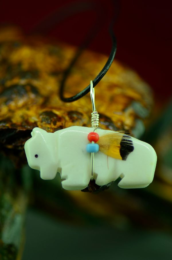 Native American Buffalo Fetish Pendants