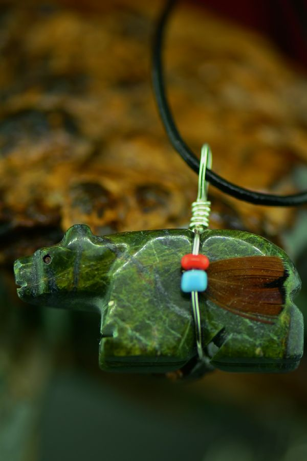 Bear Native American Pendant