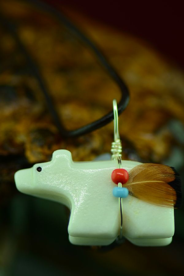 American Indian Bear Fetish Pendants