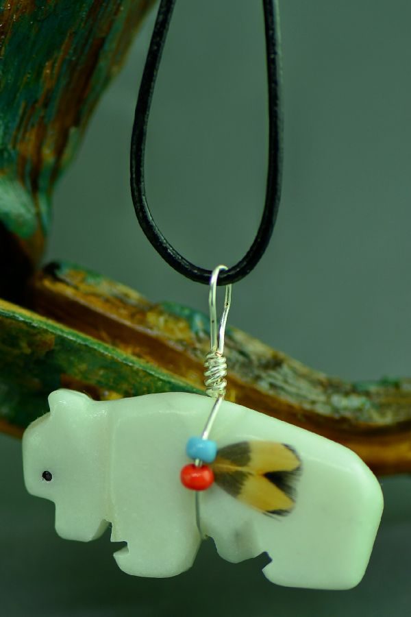 Buffalo Fetish Pendant American Indian