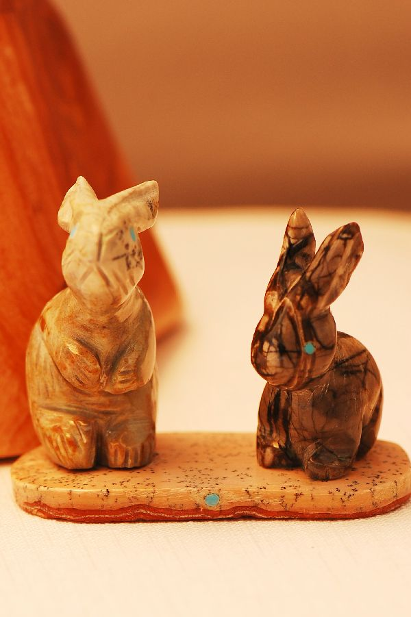 Are Zuni fetish rabbit and log early