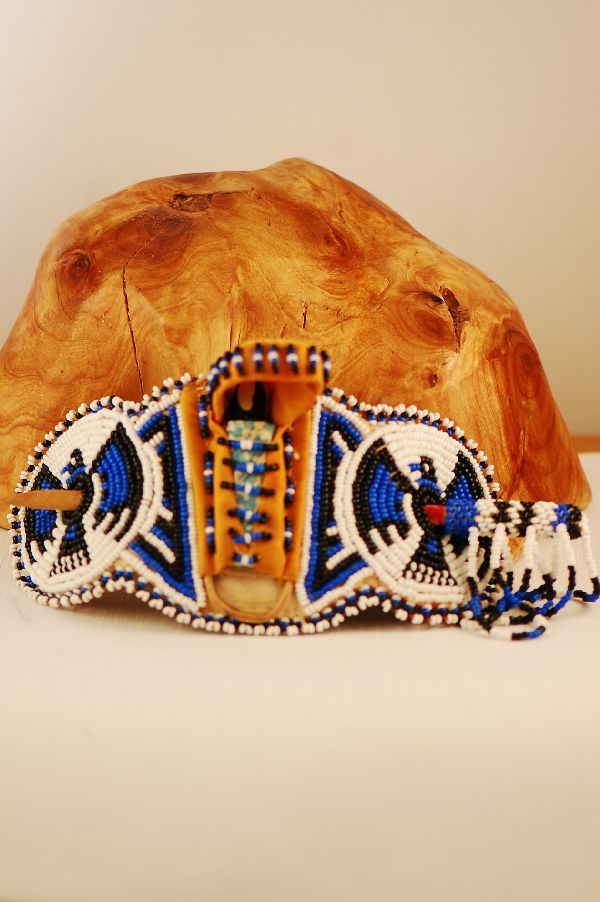 Apache Beaded Papoose Hair Piece