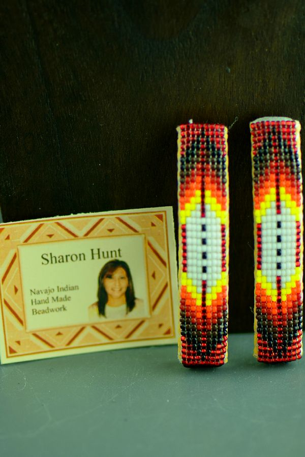 Sharon Hunt Navajo Beaded Barrettes