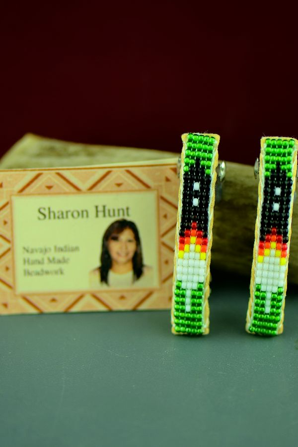 Navajo Sharon Hunt Small Beaded Barrettes