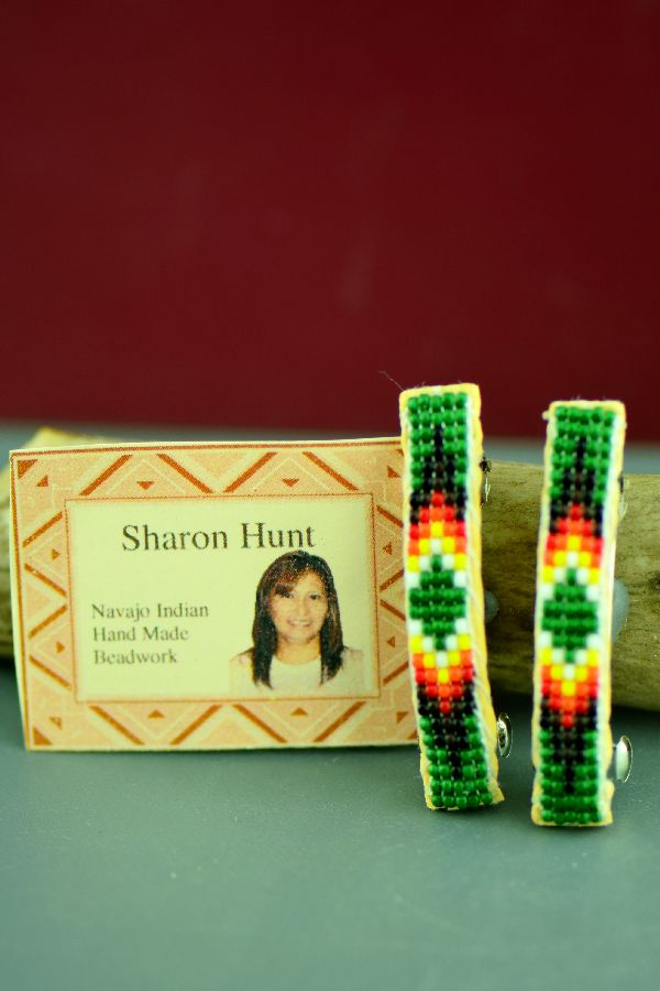 Sharon Hunt Beaded Barrettes Traditional
