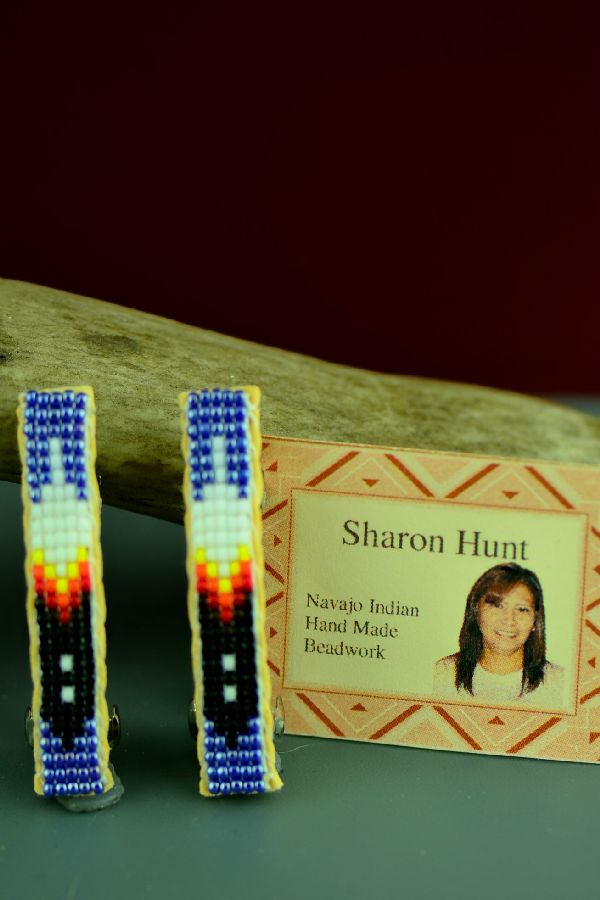 Prayer Feather Beaded Barrettes by Sharon Hunt
