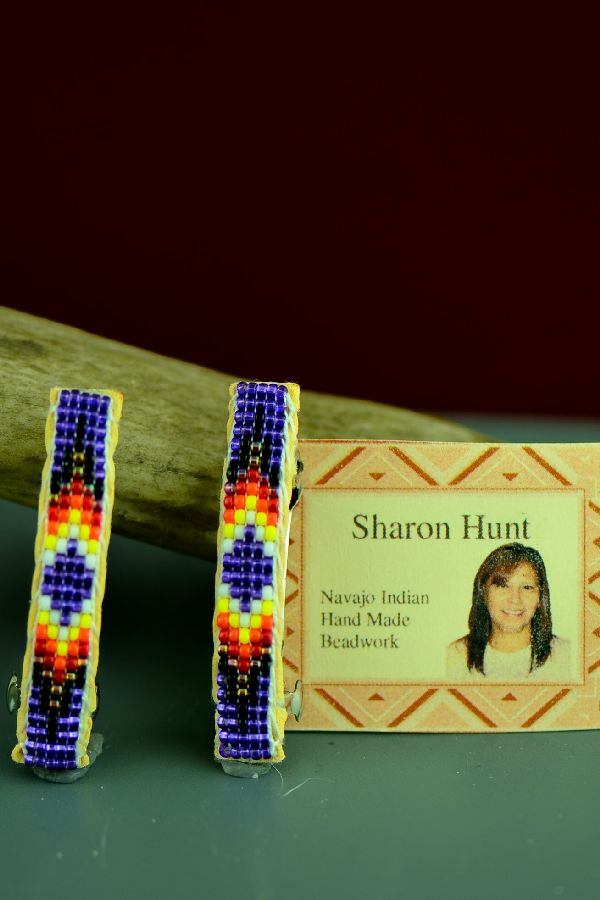 Sharon Hunt Beaded Traditional Barrettes
