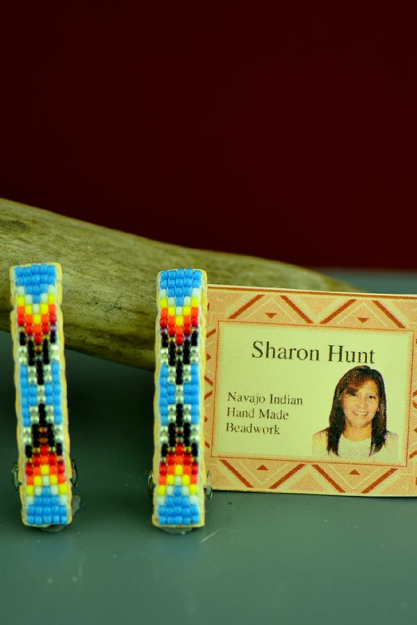 Sharon Hunt Beaded American Indian Barrettes